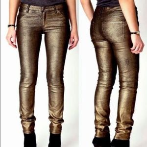 NEW Bongo Denim & Gold Skinny Stretch Jeans Size 9